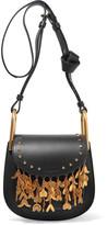 Chloé Hudson Mini Embellished Leather Shoulder Bag - Black