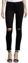 DL1961 Premium Denim Margaux Instasculpt Skinny Ankle Jeans with Ripped Knees, Rattlesnake