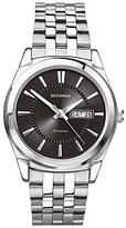 Sekonda 3479.27 Day Date Bracelet Strap Watch, Silver/black