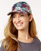 Steve Madden Embroidered Satin Baseball Cap
