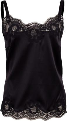 Dolce & Gabbana Lace Satin Stretch Camisole