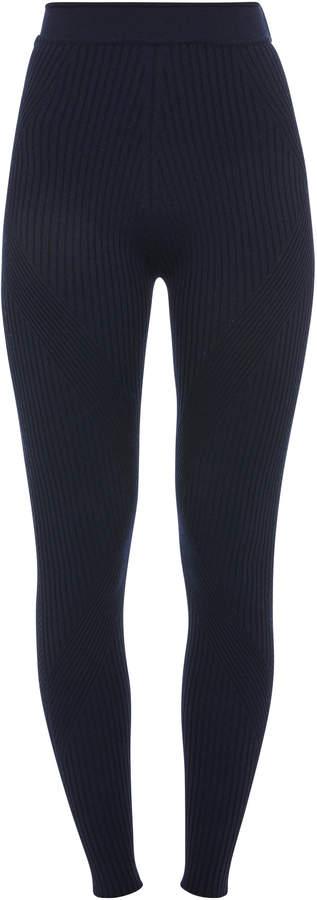 Sportmax Tegola Wool-Blend Leggings