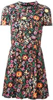 RED Valentino floral print shortsleeved dress - women - Polyester/Viscose - 40