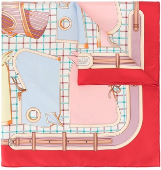 Hermes pre-owned silk CA Mails scarf