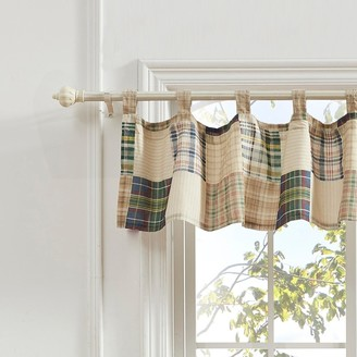 Greenland Home Fashions Oxford Window Valance, Tab Top