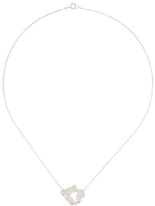 LOVENESS LEE Fleur textured charm necklace