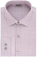 Kenneth Cole Reaction Men's Technicole Slim Fit Textured Check Spread Collar Dress Shirt