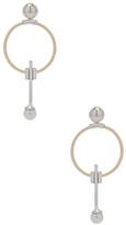 Wassonfine Swinging Pearl Earrings in Metallics.