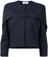 Courreges press stud pinstripe jacket - women - Nylon/Spandex/Elastane/Wool - 36
