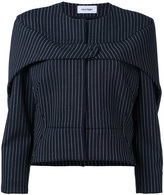 Courreges press stud pinstripe jacket