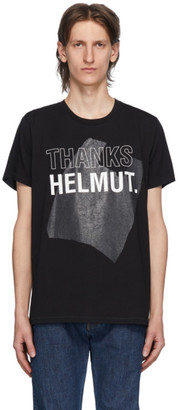 Helmut Lang Black Thanks Standard T-Shirt