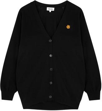 Kenzo Black Knitted Cotton Cardigan