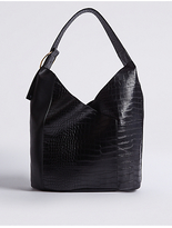 M&S Collection Faux Leather Ring Detail Hobo Bag