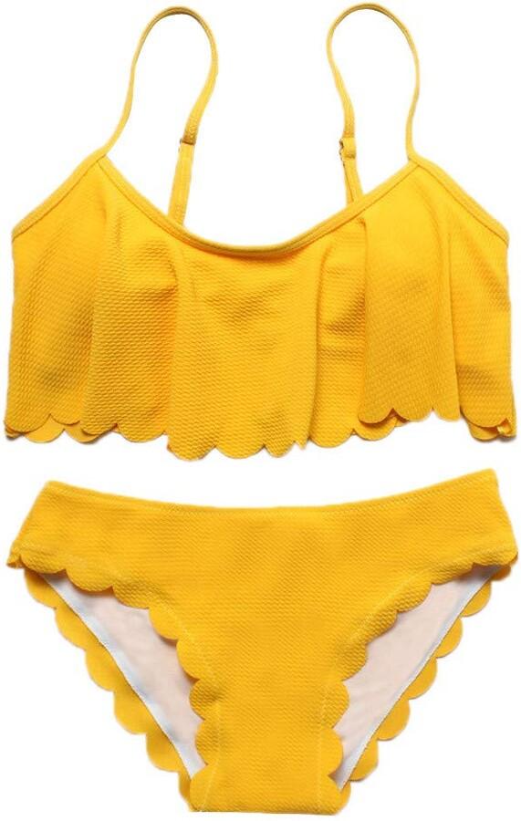 Thumbnail for your product : Kalorywee Swimwear Women Summer Fashion Soild Swimwear Beachwear Siamese Swimsuit Bikini Set Yellow