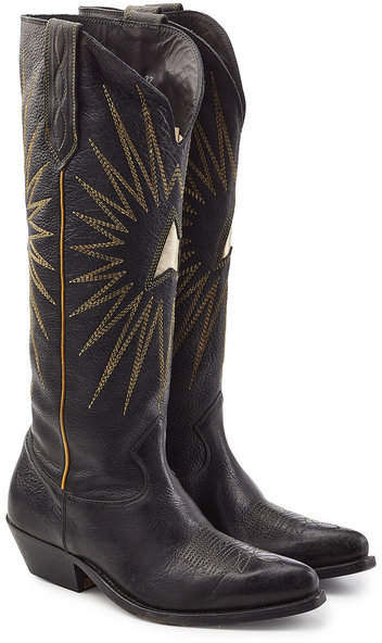 Golden Goose Sunset Leather Knee Boots