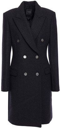 Theory Double-breasted Wool-twill Coat