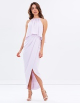 Shona Joy High Neck Drape Maxi