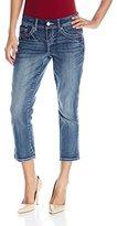 Seven7 Women's 24-Inch Big Stitch Crop Jean