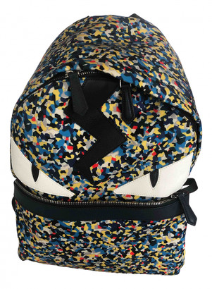 Fendi Metallic Polyester Backpacks
