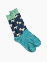 Lucky Brand Bear Marled Sock