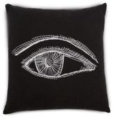 Kelly Wearstler Coveteur Eye-Embroidered Linen Down Throw Pillow