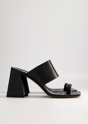 Maison Margiela Women's Tabi Heeled Sandalo Slide, Size 36 | Leather
