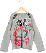 John Galliano Boys' Graphic Print Long Sleeve Shirt
