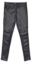 Tractr Girl's Faux Leather Ponte Skinny Pants