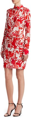 Roberto Cavalli Rose Ruched Shirtdress