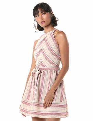 J.o.a. Women's Sleeveless Linen Short Halter Dress