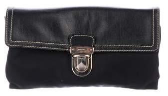 5491c15ab679 Prada Leather Zip Pouch - ShopStyle