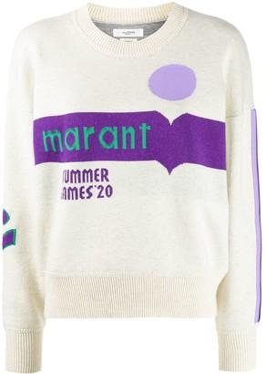 Etoile Isabel Marant Distressed Logo Print Hoodie