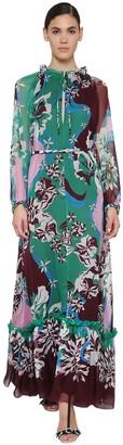 Emilio Pucci Printed Silk Chiffon Maxi Dress