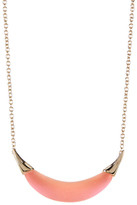 Alexis Bittar Lucite Capped Crescent Pendant Necklace
