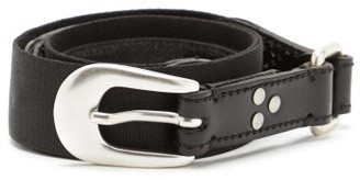 Our Legacy Riveted Leather And Webbing Belt - Black