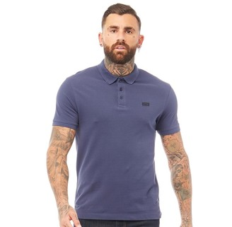 883 Police Mens King Polo Mid Blue