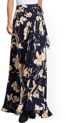 New York & Co. Floral Wrap Maxi Skirt