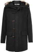Mcq Alexander Mcqueen - Faux Fur-trimmed Wool-blend Hooded Parka