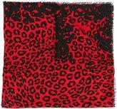 Marc Jacobs leopard print scarf - women - Viscose/Wool - One Size