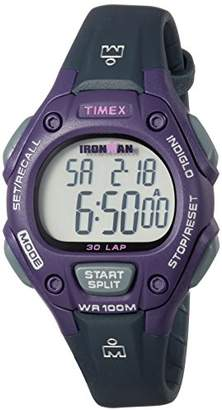 Timex Women's TW5M16000 Ironman Classic 30 Mid-Size Resin Strap Watch