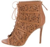 Alice + Olivia Laser Cut Ankle Boots