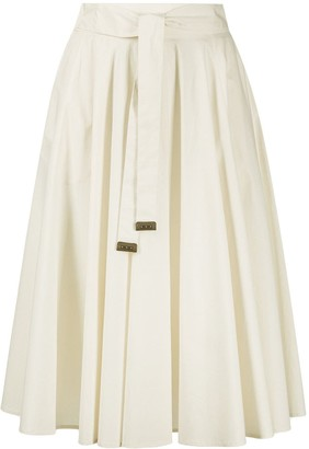 Peserico Flared Tie-Waist Skirt