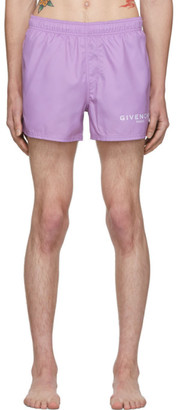 Givenchy Purple Logo Swim Shorts