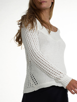 White + Warren Cotton Cross Back Sweater