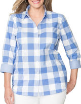 Chaps Plus Non-Iron Gingham Broadcloth Shirt