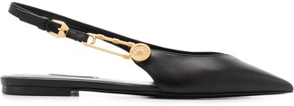 Versace Safety Pin Point-Toe Flats