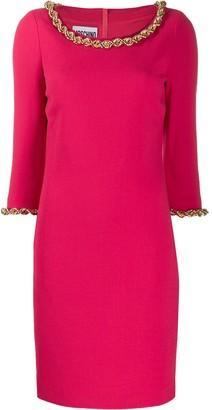 Moschino Chain-Trim Knee-Length Dress