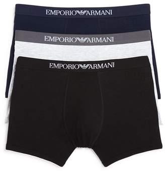 Giorgio Armani Pure Cotton Boxer Briefs - Pack of 3