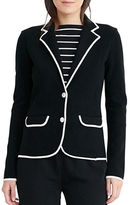 Lauren Ralph Lauren Stretch Cotton Sweater Blazer