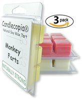 Yankee Candle Candlecopia Fruity Favorites Monkey Farts, Butt Naked and Bite Me Scented Wax Melts, 3.2 Ounce Each, 3-Pack